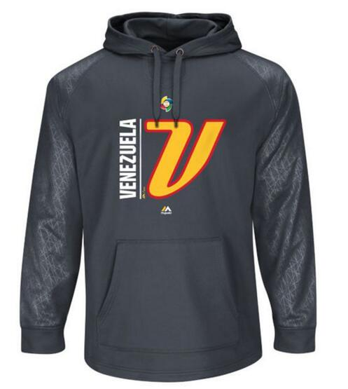 Venezuela Baseball Majestic 2017 World Baseball Classic Authentic Collection Team Icon Pullover Hoodie Graphite