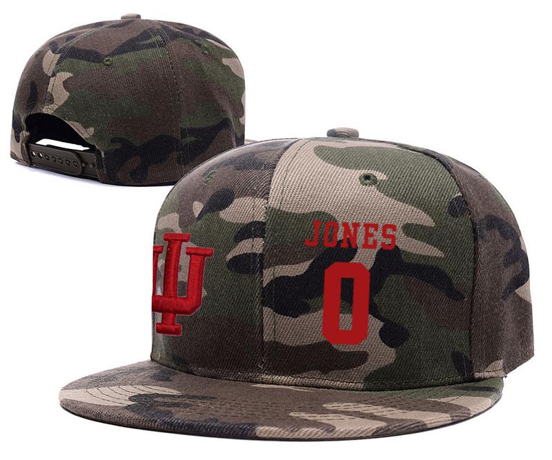 Indiana Hoosiers 0 Curtis Jones Camo College Basketball Adjustable Hat