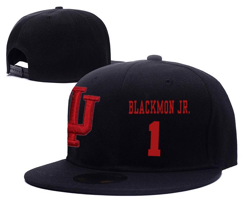 Indiana Hoosiers 1 James Blackmon Jr. Black College Basketball Adjustable Hat