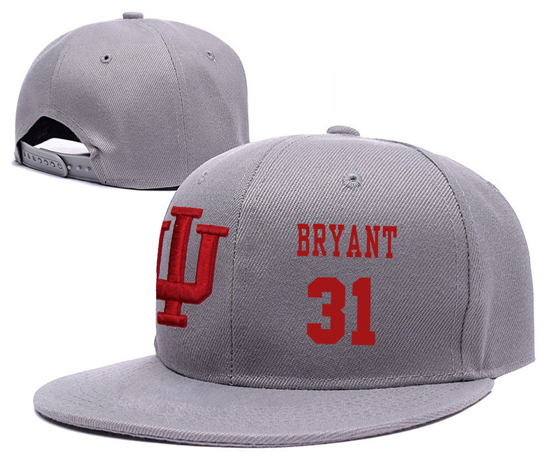 Indiana Hoosiers 31 Thomas Bryant Gray College Basketball Adjustable Hat