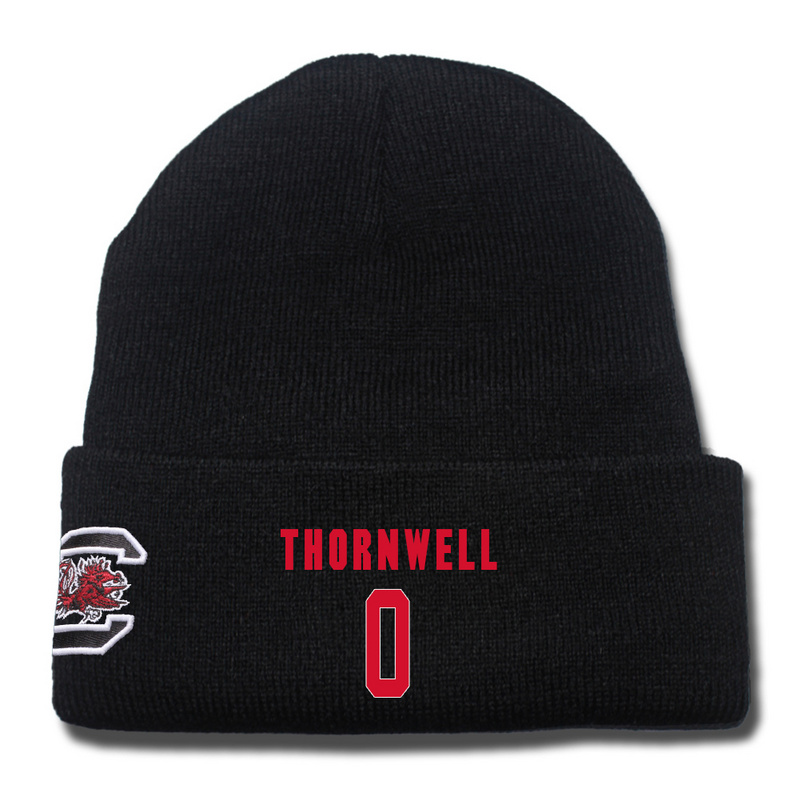 South Carolina Gamecocks 0 Sindarius Thornwell Black College Basketball Knit Hat