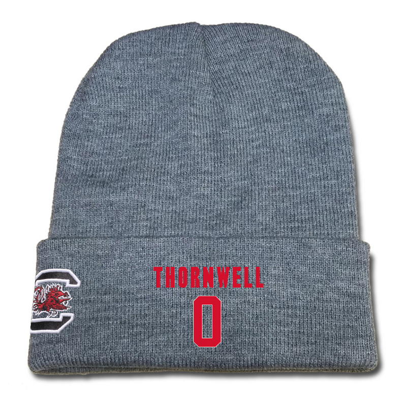 South Carolina Gamecocks 0 Sindarius Thornwell Gray College Basketball Knit Hat
