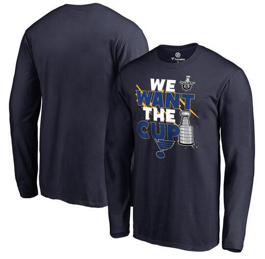 St. Louis Blues Fanatics Branded 2017 NHL Stanley Cup Playoff Participant Blue Line Long Sleeve T Shirt Navy