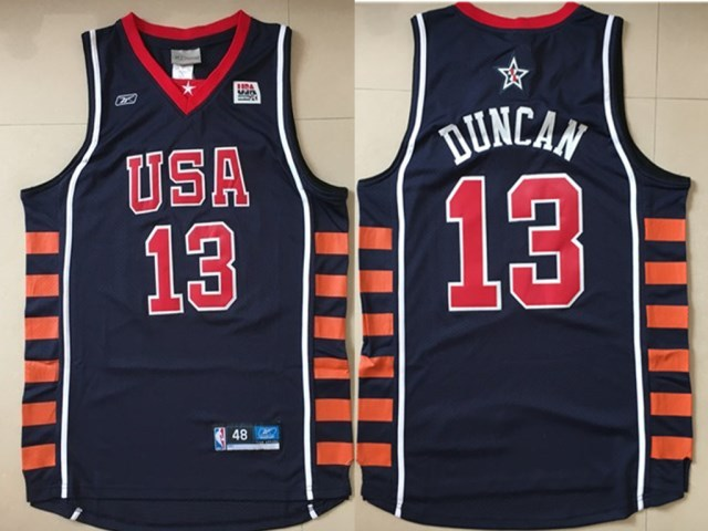 USA 13 Kevin Durant Navy Dream Team VI Jersey