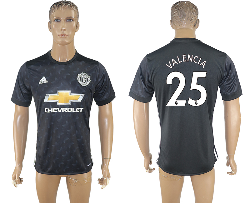 2017-18 Manchester United 25 VALENCIA Away Thailand Soccer Jersey