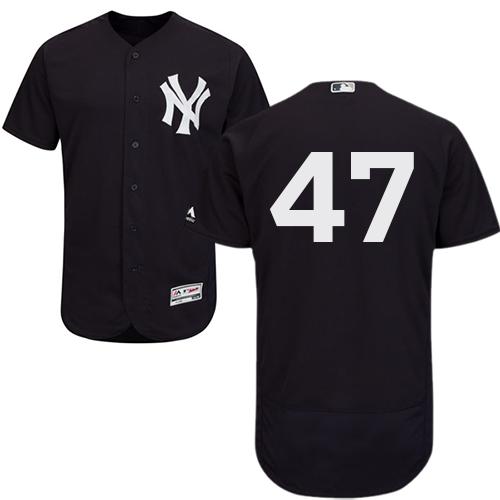 Yankees 47 Jon Niese Navy Flexbase Jersey