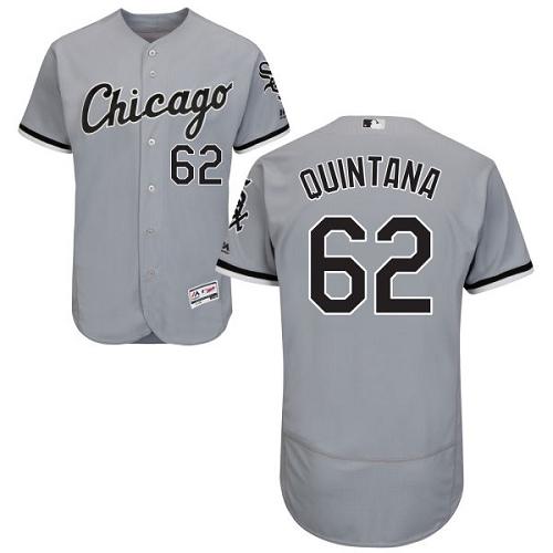 White Sox 62 Jose Quintana Gray Flexbase Jersey