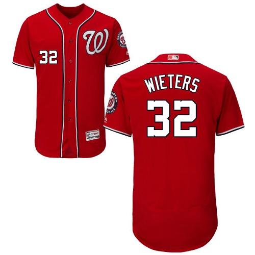 Nationals 32 Matt Wieters Red Flexbase Jersey
