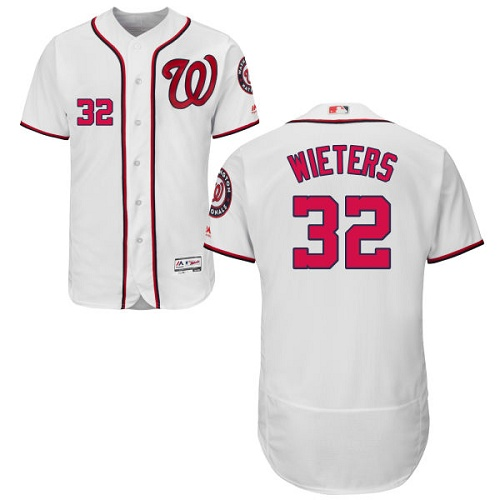 Nationals 32 Matt Wieters White Flexbase Jersey