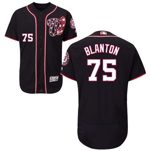 Nationals 75 Joe Blanton Navy Flexbase Jersey