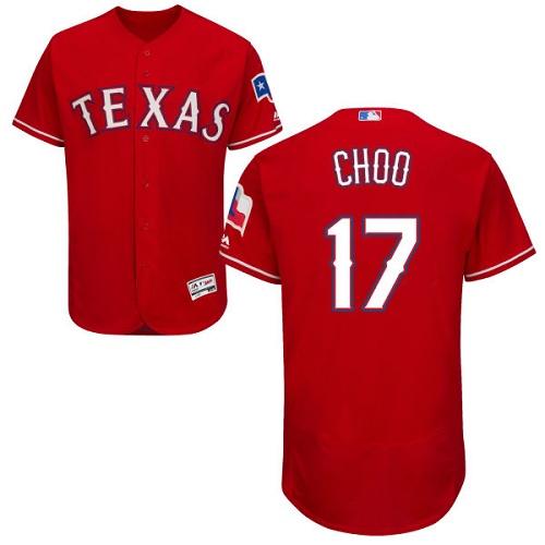 Rangers 17 Shin Soo Choo Red Flexbase Jersey