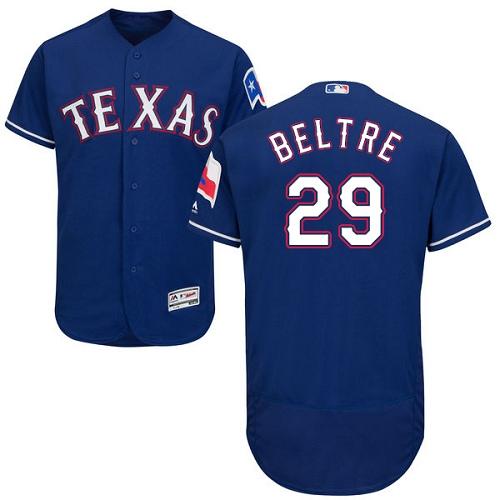 Rangers 29 Adrian Beltre Blue Flexbase Jersey