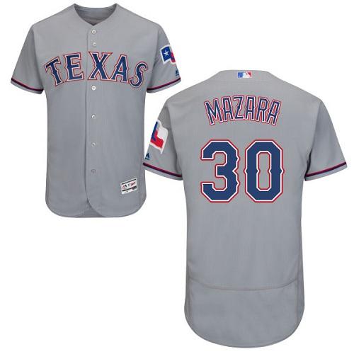Rangers 30 Nomar Mazara Gray Flexbase Jersey