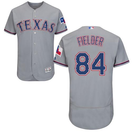 Rangers 84 Prince Fielder Gray Flexbase Jersey