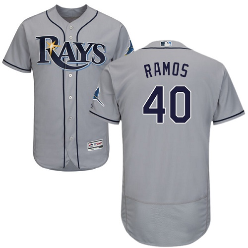 Rays 40 Wilson Ramos Gray Flexbase Jersey