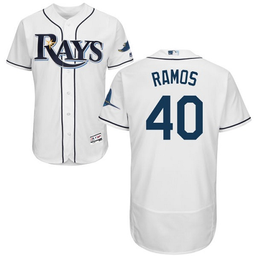 Rays 40 Wilson Ramos White Flexbase Jersey