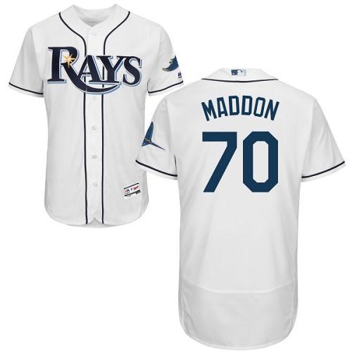 Rays 70 Joe Maddon White Flexbase Jersey