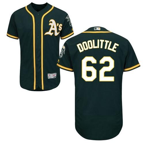 Athletics 62 Sean Doolittle Green Flexbase Jersey