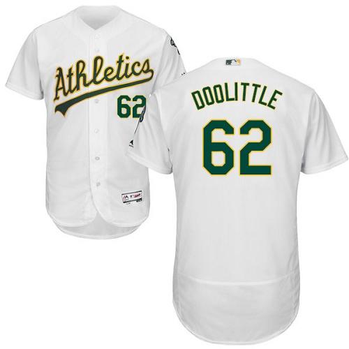Athletics 62 Sean Doolittle White Flexbase Jersey