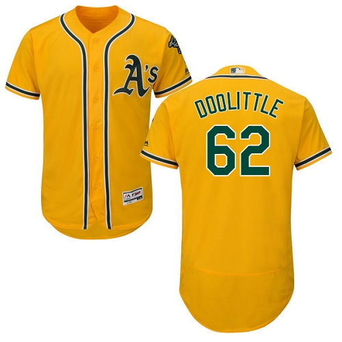 Athletics 62 Sean Doolittle Yellow Flexbase Jersey