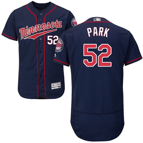 Twins 52 Byung Ho Park Navy Flexbase Jersey