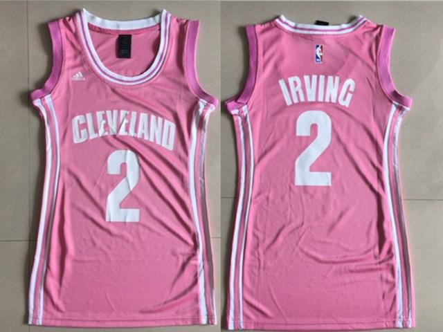 Cavaliers 2 Kyrie Irving Pink Women Swingman Jersey