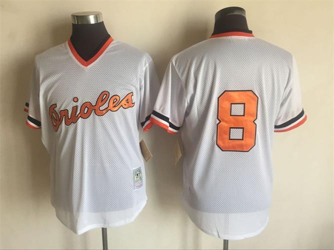 Orioles 8 Cal Ripken Jr. White Cooperstown Collection Jersey