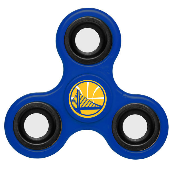 Warriors Team Logo Blue Fidget Spinner