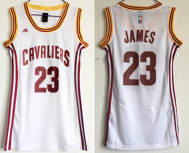 Cavaliers 23 Lebron James White Women Swingman Jersey