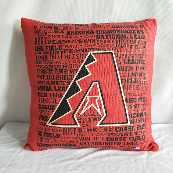 Arizona Diamondbacks Red Baseball Pillow