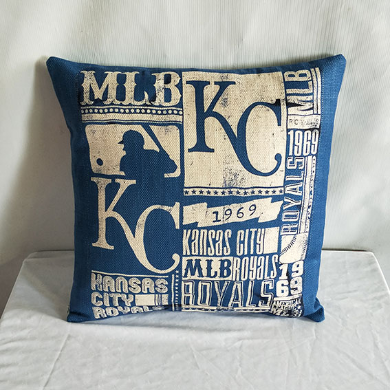 Kansas City Royals Baseball Pillow