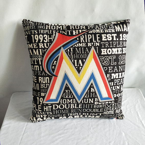 Miami Marlins Baseball Pillow