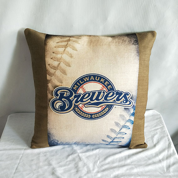 Milwaukee Brewers Baseball Pillow