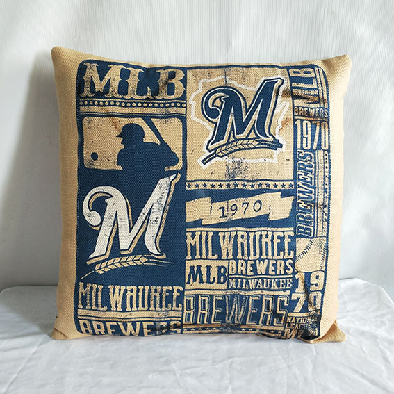 Milwaukee Brewers Baseball Pillow2