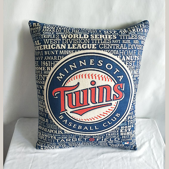 Minnesota Twins Baseball Pillow