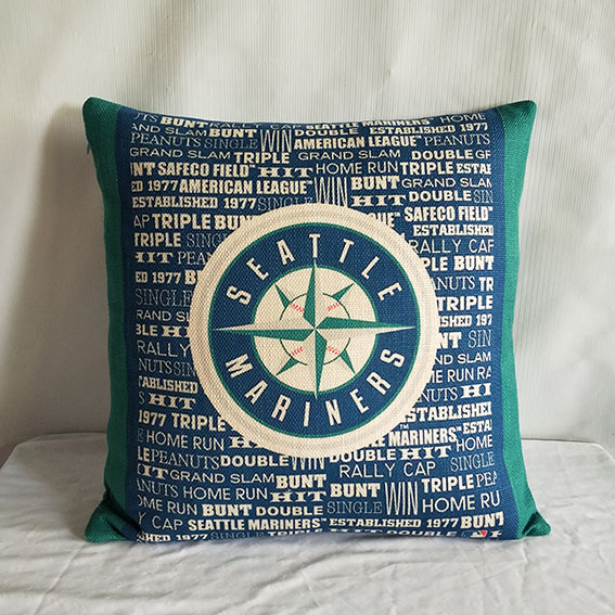 Seattle Mariners Baseball Pillow