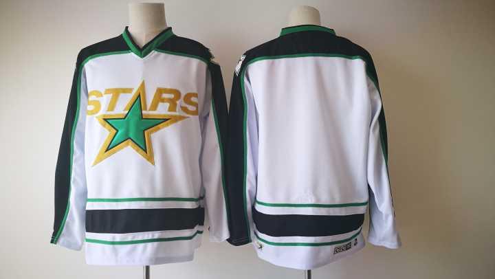 Stars Blank White CCM Jersey
