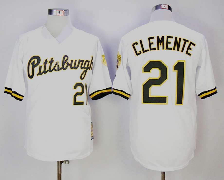 Pirates 21 Roberto Clemente White Cooperstown Collection Player Jersey