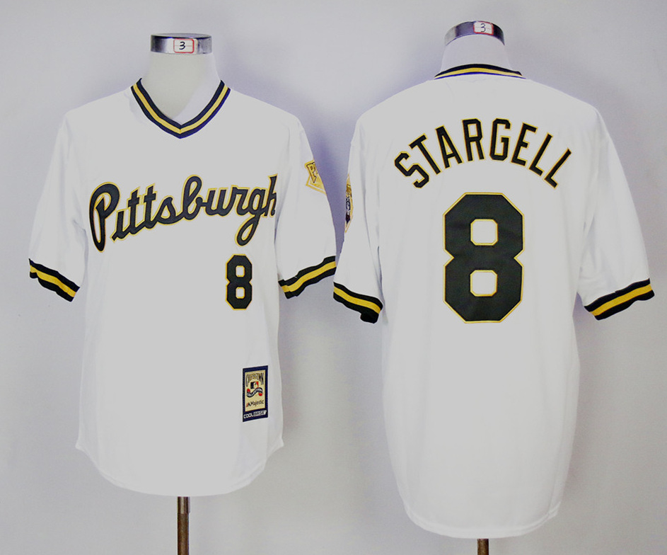 Pirates 8 Willie Stargell White Cooperstown Collection Jersey