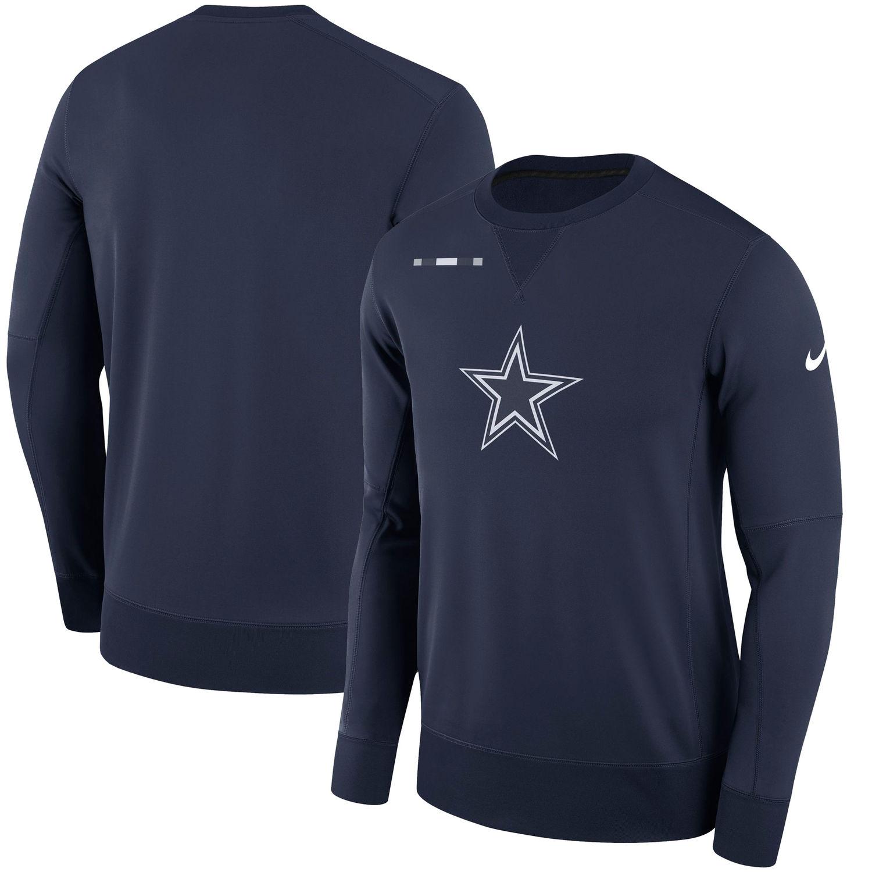 Men's Dallas Cowboys Nike Navy Sideline Team Logo Performance Sweatshirt
