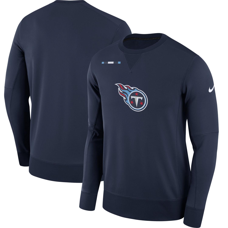 Men's Tennessee Titans Nike Navy Sideline Team Logo Performance Sweatshirt