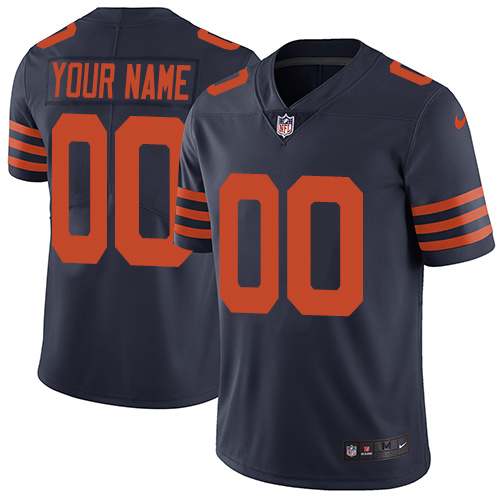 Nike Bears Navy Throwback Men's Customized Vapor Untouchable Player Limited Jersey