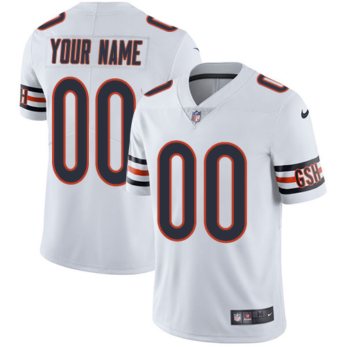 Nike Bears White Men's Customized Vapor Untouchable Player Limited Jersey