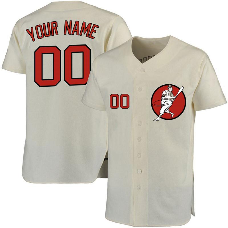 Astros Cream Men's Customized New Design Jersey