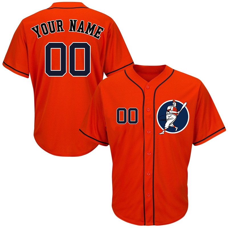 Astros Orange Men's Customized Cool Base New Design Jersey