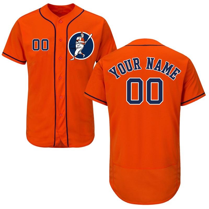 Astros Orange Men's Customized Flexbase New Design Jersey