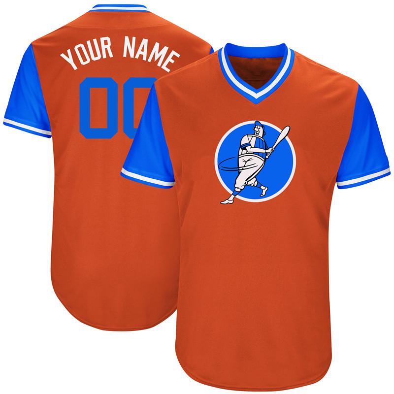 Astros Orange Men's Customized New Design Jersey