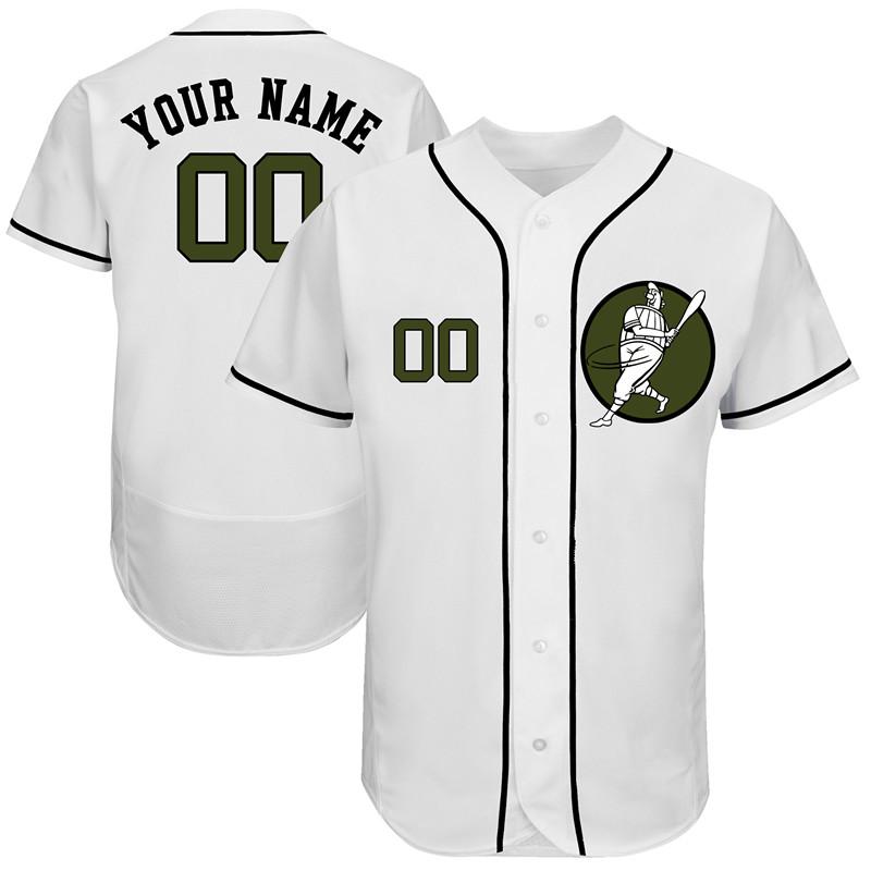 Astros White Men's Customized Green Logo New Design Jersey