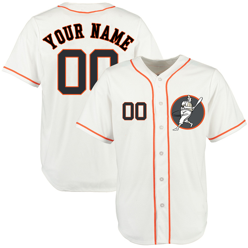 Astros White Men's Customized New Design Jersey