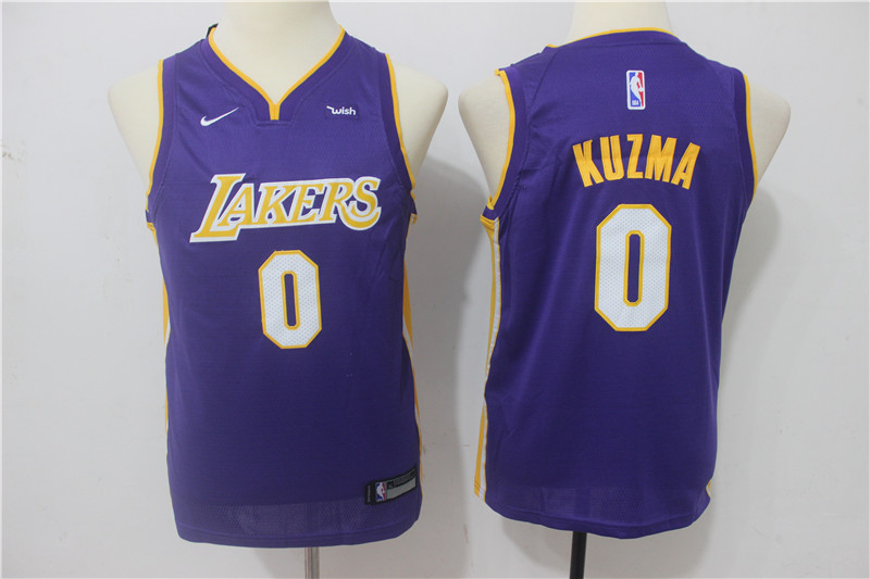 Lakers 0 Kyle Kuzma Purple Youth Nike Swingman Jersey